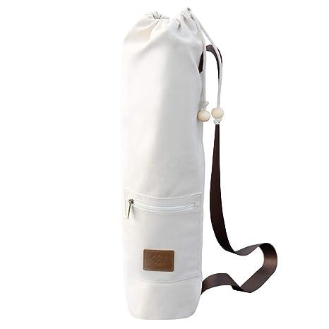 Bolsa para esterilla de yoga, pilates, gimnasia | De gran capacidad, diseñada para todos los tamaños, cierre de cordones y bolsillo amplio con ...