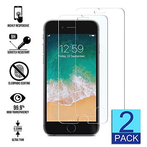 "Tempered Glass Screen Protector for Apple IPhone 5S 6S 7S X 5 6 7 8 Plus Screen Protector [5.5""inch][4.7""..."