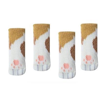 4pcs Non-slip Table Leg Pad Furniture Foot Cap Cover Case Home Floor Protect Mat