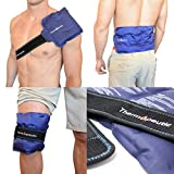 "Thermopeutic Reusable Ice Pack for Injuries and Pain Relief (15"" X 7"") (Hot or Cold) - Extra Long Lasting Gel Formula - for Shoulder, Back, Knee, Arm, Foot and More"