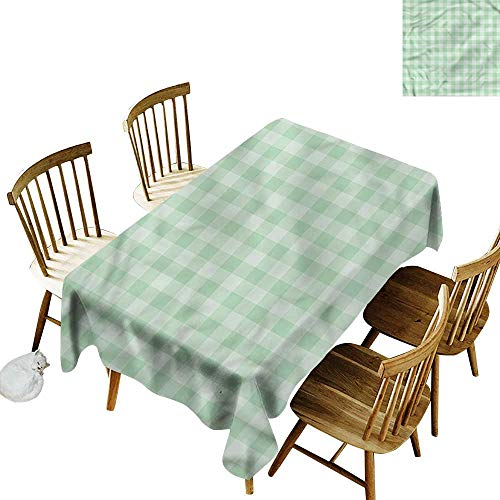 one1love Resistant Table Cover Mint Traditional Old Tartan Modern Minimalist 60