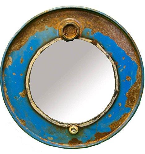 Log Wall Mirror (Steam Punk Barrel Mirror)