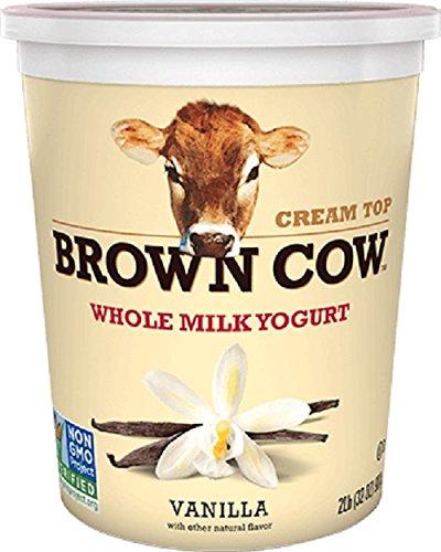 Brown Cow Cream Top Yogurt, Vanilla, 32 Ounce (Pack of (Cream Top Yogurt)