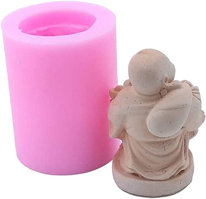 Fondant Backen Epoxid-Ton Schokolade Kuchendekoration Backform Chinese Buddha 01 Seife Chinesische Buddha Bodhisattva Silikon-Form f/ür Kerzen Kerzen Modellierform Polymermeraromatherapie