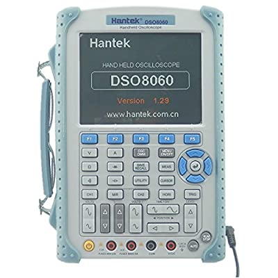 Hantek DSO8060 Handheld Digital Oscilloscope 60MHz 250MSa/s 2CH 5-in-1 Oscilloscope/DMM/ Spectrum Analyzer/Frequency Counter/Arbtrary Waveform generator