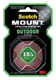 Scotch Outdoor Mounting Tape, 1-inch x