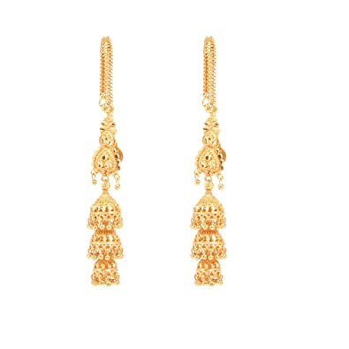 b53c01c65 Buy GoldNera Heavy Latkan Design Alloy Jhumki Earrings for Girl's (Gold)  Online at Low Prices in India | Amazon Jewellery Store - Amazon.in