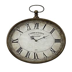 IMAX Jefferson Clock - Vintage Style, Wall Mounted Clock with Easy to Read Numerals. Home Decor Items