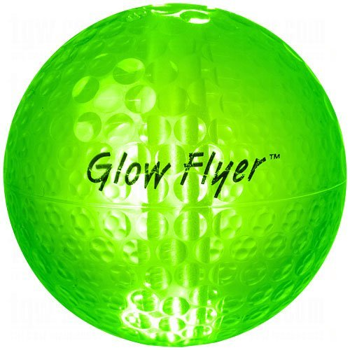 Night Golf Ball with 2 Pack Green Glow (Night Flyer Golf Ball)