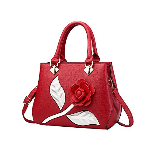 Fantastic Zone Roses Women Handbags Fashion Handbags for Women PU Leather Shoulder Bags Tote Bags Purse