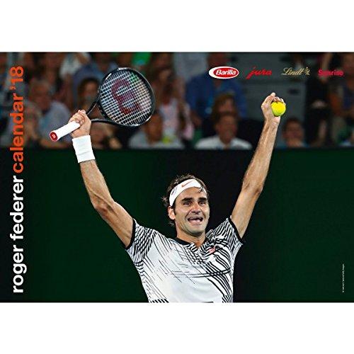 Calendario Tennis Roger Federer 2018din a3parete ZRZ Sports
