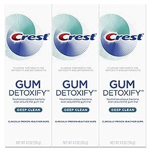 Crest Gum Detoxify Deep Clean Toothpaste Triple Pack, 12.3 Ounce