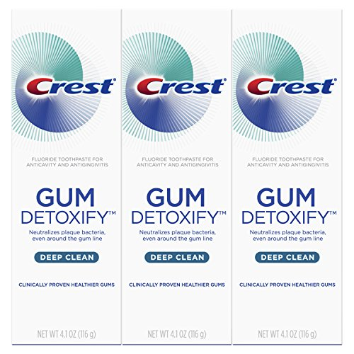 Crest Gum Detoxify Deep Clean Toothpaste, 4.1 oz, Triple pack (Relief Plaques)