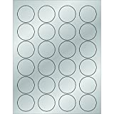 Tape Logic LL216SR Foil Circle Laser Labels 1 5/8 Silver (Pack of 2400)