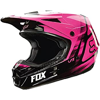 Fox Racing Vandal Mens V1 Motocross Motorcycle Helmet - Pink / 2X-Large