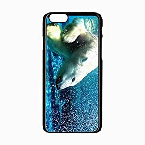 iPhone 6 Black Hardshell Case 4.7inch polar water dive Desin Images Protector Back Cover