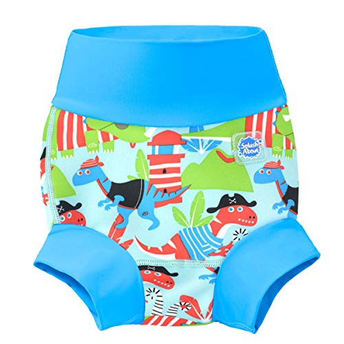 Splash About New and Improved Happy Nappy Swim Diapers (Dino Pirates, 2-3 Years)
