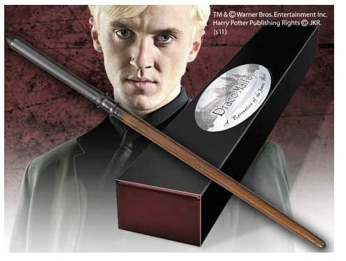 Character Replicas (Harry Potter Draco Malfoy Wand Character-Edition 1:1 Scale Replica by Noble Collection)