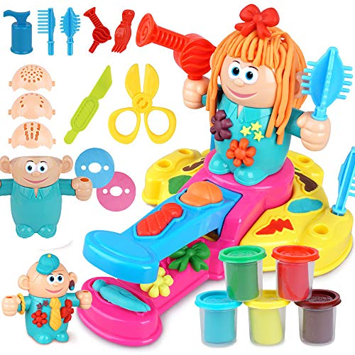 HenMerry Kids Play Clay Dough Toy Tool Set,Handmade DIY Creative 3D Color - Razor Barbershop Toys Kids