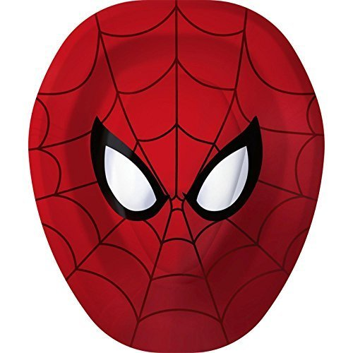 Spider-Man Hero Dream Party Shaped Paper Plates -