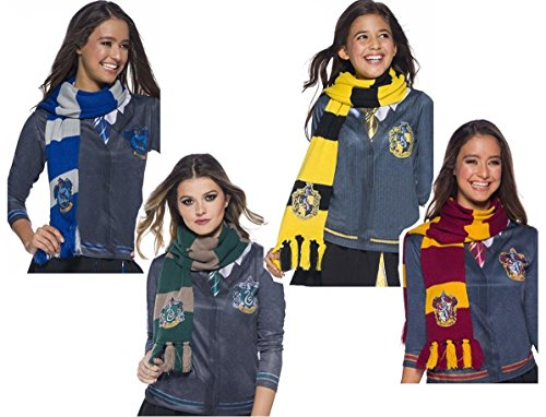 - Rubie's Harry Potter Deluxe Scarfs Costume Accessory Set, Four Scarfs, Gryffindor, Slytherin, Hufflepuff, Ravenclaw