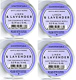 Bath and Body Works 4 Pack Linen and Lavender Scentportable Fragrance Refill. 0.2