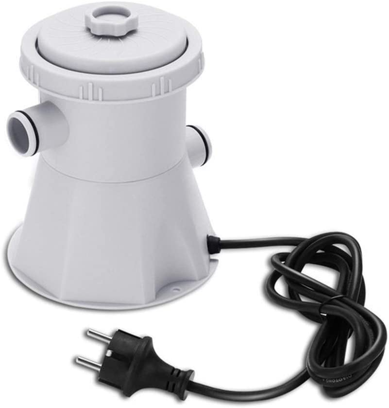 L.J.JZDY Filtro de la Piscina Útiles de Limpieza del Agua Conjunto Bomba de la Piscina Filtrado eléctrico Piscina Bomba de filtrado Filtro de circulación for Piscina (Color : EU Plug, Size : Gratis)