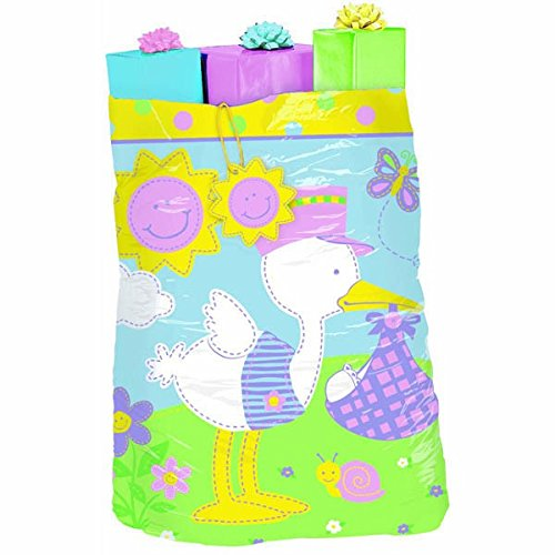 """Amscan Adorable Bundle Of Joy Giant Gift Sack Party Supply (Pack of 1), Multicolor, 44"""" x 36"""""""