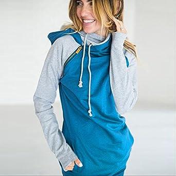 c26be93684b4a Sothingoodly Tide New Double hood hoodies sweatshirt Women Autumn ...