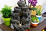 Alpine Corporation 5-Tiered Cascading Fountain
