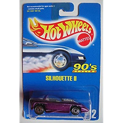 Hot Wheels 90'S Styling, Purple Silhouette II #212 All Blue Card Ultra HOT: Toys & Games
