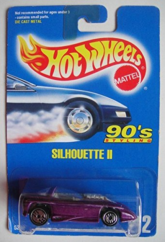 HOT WHEELS 90'S STYLING, PURPLE SILHOUETTE II #212 ALL BLUE CARD ULTRA ()