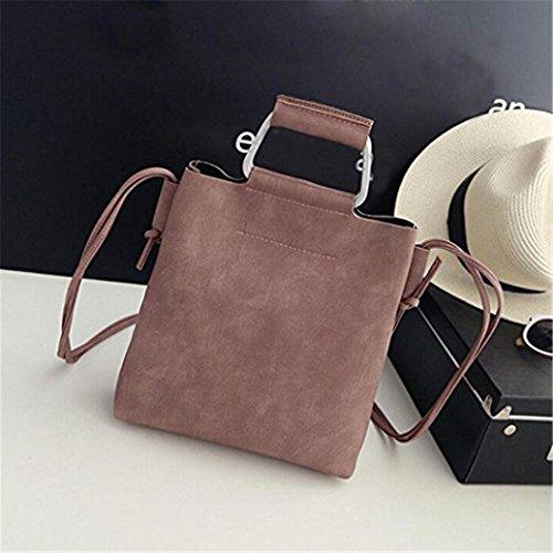 Gray Leather size Bag Crossbody dragonaur Brown Coin Phone Handbag Shoulder Women Messenger Fashion Small 4wgxgfqE7