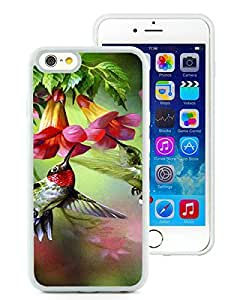 Hummingbird Painting White Cool Customized Design iPhone 6,iPhone 6s 4.7 Inch Silicone TPU Case