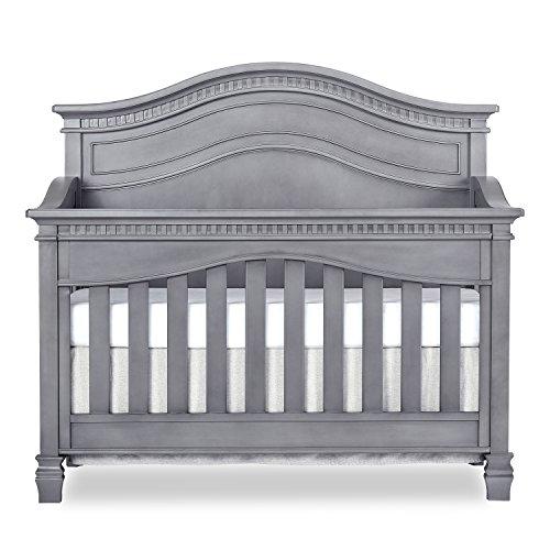 (Evolur Cheyenne 5 in 1 Full Panel Convertible Crib, Storm Grey)