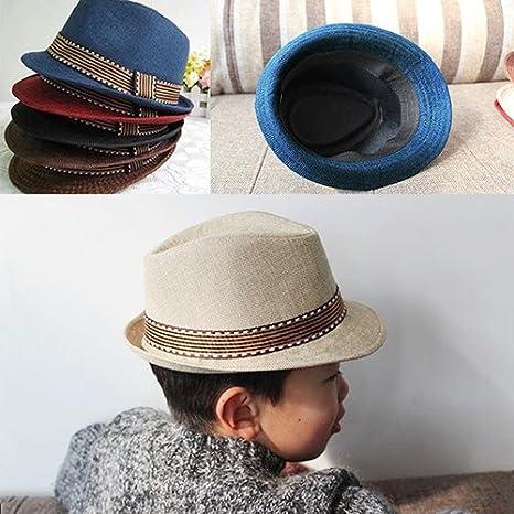 Bodhi2000 Kids Boy Girl Fedora Trilby Hat Photography Cool Jazz Cap