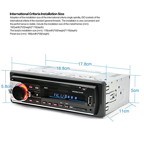 Amazon.com: Alloet New In-Dash Bluetooth Car Stereo Audio FM Aux Input Receiver SD USB MP3 Radio Player: Car Electronics