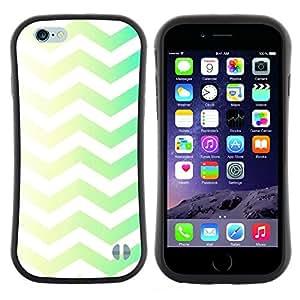 Pulsar iFace Series Tpu silicona Carcasa Funda Case para Apple (4.7 inches!!!) iPhone 6 Plus / 6S Plus ( 5.5 ) , Vert Jaune Chevron Motif White Rasé