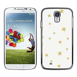 Paccase / SLIM PC / Aliminium Casa Carcasa Funda Case Cover para - Gold Bling Pattern White - Samsung Galaxy S4 I9500