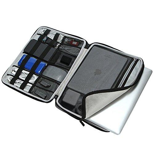 iCozzier 15-15.6 Inch Diamond Foam Handle Laptop Sleeve Shock Resistant ElectronicsAccessories Storage/Stylish Travel Organizer for Laptop/Ultrabook/ Notebook/Netbook/ MacBook - Black by iCozzier (Image #2)