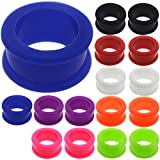 0 00 gauges Ear Plugs Flesh Tunnels Silicone Steel Screw Double Flared Stretcher Taper 5/8 gauges 5/8 16mm