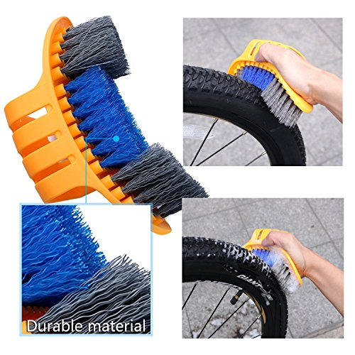 Oumers Bike Cleaning Tools Set (10 Pack), Bicycle Clean Brush Kit Make Mountain, Road, City, Hybrid, BMX and Folding Bike Chain/Crank/Sprcket/Tire Corner Rust Blot Dirt Clean   Durable/Practical by Oumers (Image #3)