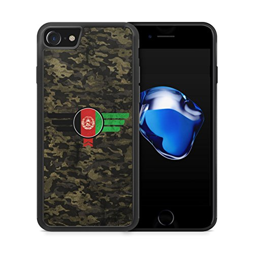 Afghanistan Camouflage - Hülle für iPhone 7 SILIKON Handyhülle Case Cover Schutzhülle - Bedruckte Flagge Flag Military Militär