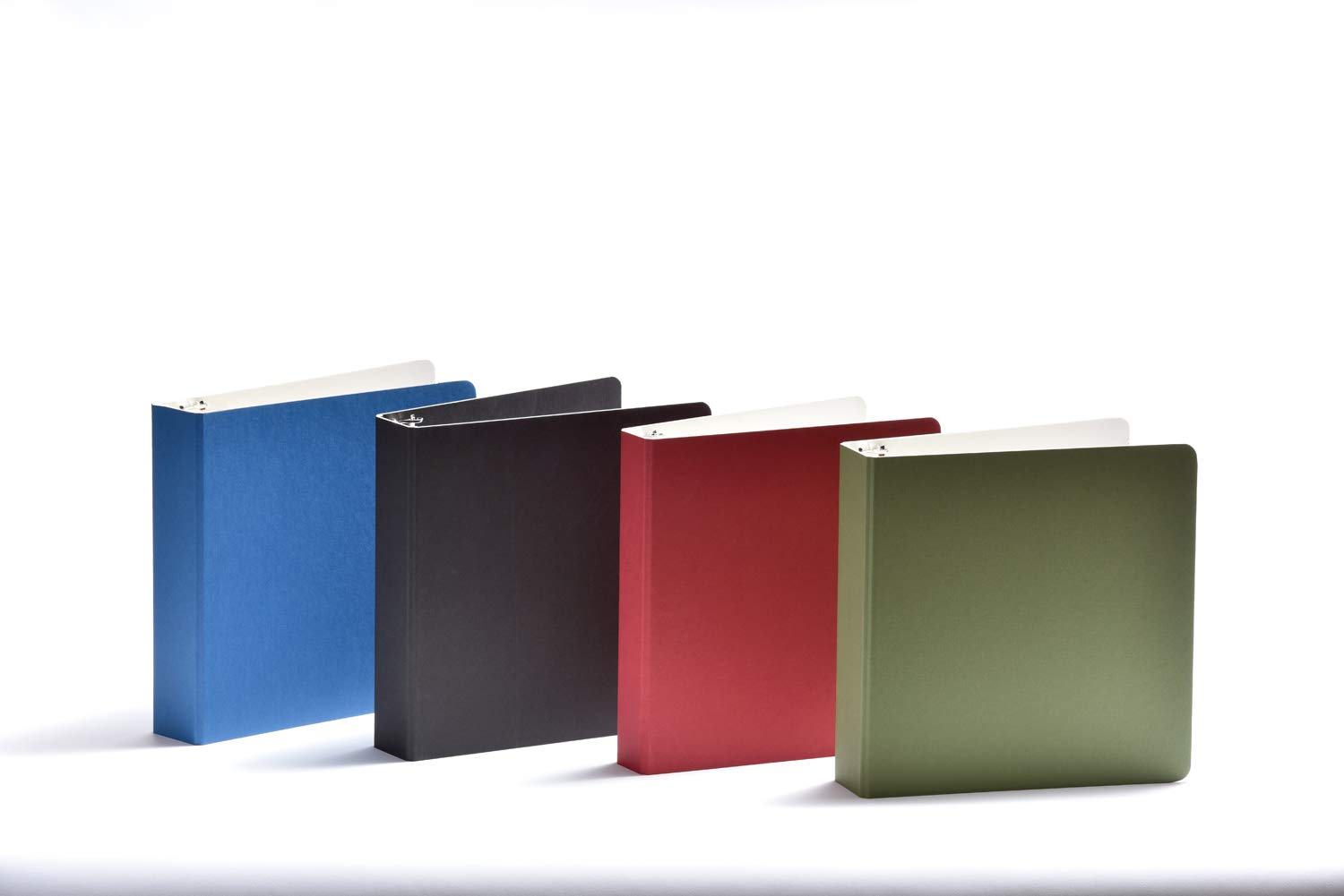 Naked Binder: 3-Ring Binder. Lapis Blue Outside and White Inside. Accommodates up to 9''(w) x 11''(h) Documents. 1.5'' D-Ring. Sold in Sets of 4 Lapis Blue Binders. 100% Recyclable. by Naked Binder
