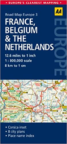 road map france belgium the netherlands road map europe aa publishing 9780749575311 amazoncom books