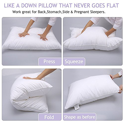 White typical down different Bed Pillows