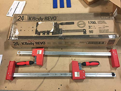 "BESSEY KRE3524 PAIR 24"" K Body REVO Parallel Bar Clamp Now With Hex Key Clamping"