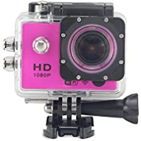 Sports Camera - Peyou Remote Control WiFi Action Camera SJ7000 1.5 Inch Screen 1080P Full HD Helmet DV Camcorder 30M Waterproof Diving Sport Camera - PINK