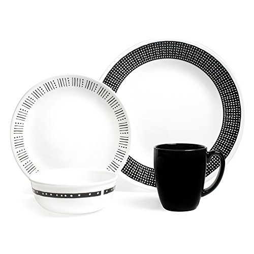 corelle black and white dishes - 3
