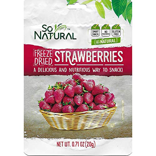 Freeze Dried Strawberries - So Natural Freeze Dried Strawberries (Strawberry, 3 Pack)